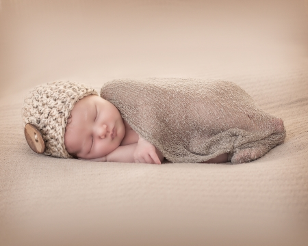 Photo for Newborn with Beany - Royalty Free Image