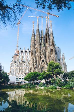 Foto de View of Sagrada Familia - Imagen libre de derechos