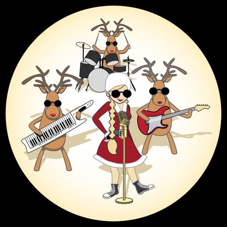 Christmas Quartet in the orange circle