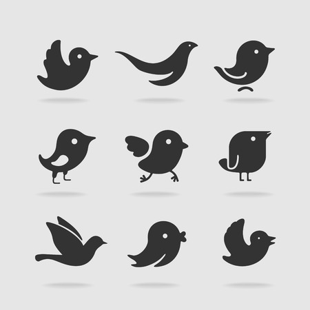 Illustration pour Symbol set bird - image libre de droit