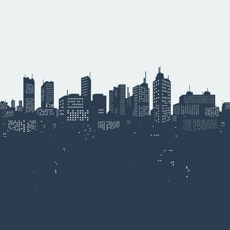 Illustration pour Silhouette background city - image libre de droit