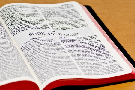 Close up of Daniel bible page