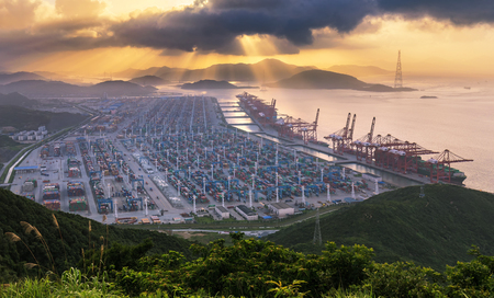 Foto per Ningbo Chuanshan Port - Immagine Royalty Free