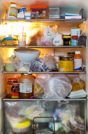 Photo for dirty and unhealthy food refrigerator - Royalty Free Image