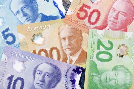 Foto de Canadian money, a background - Imagen libre de derechos