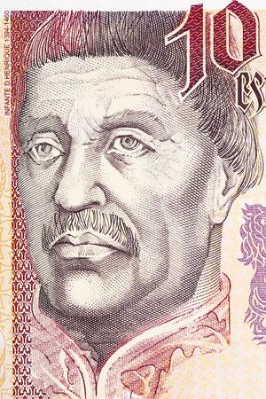 Photo pour Infante Don Henrique of Portugal portrait from Portuguese money - image libre de droit