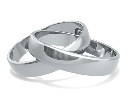 Photo pour Wedding rings of Platinum x 2 - image libre de droit