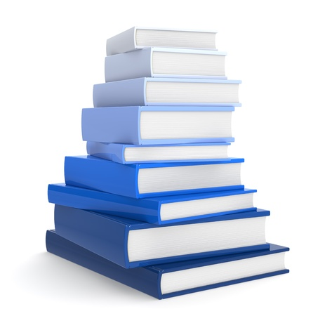Pile of Books. Blue Color Scale.