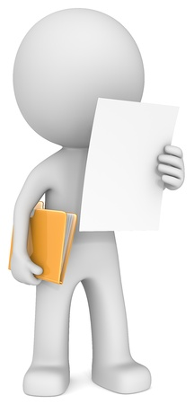 Foto de The Dude reading document adn holding manila folder  - Imagen libre de derechos