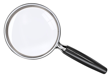Photo pour Magnifying Glass. Isolated magnifying glass. Black and metal. - image libre de droit