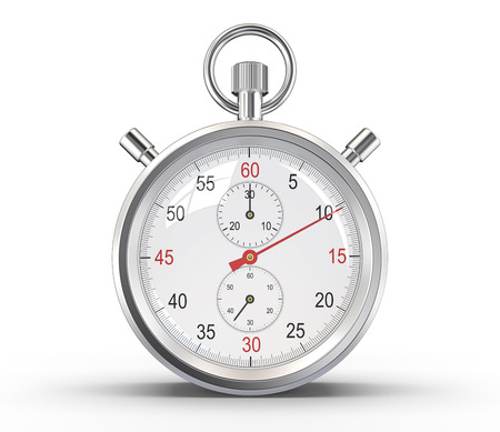 Photo pour Stopwatch. Classic stopwatch. Glass reflections and ground shadow. Clipping path. - image libre de droit