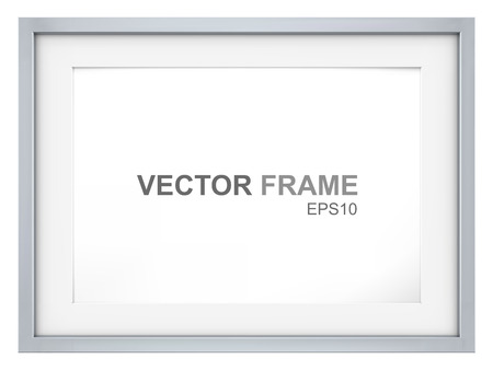 Illustration pour Frame. Vector Picture Frame made of steel. Copy Space. - image libre de droit
