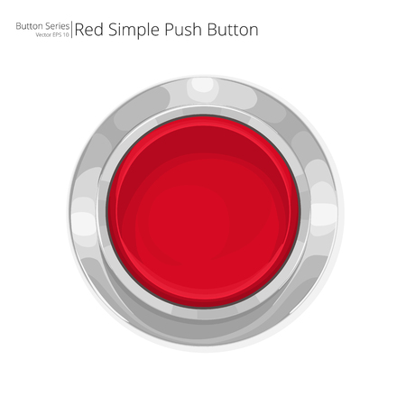 Illustration for Red Push Button. Simple red push button. - Royalty Free Image