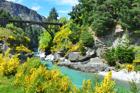 Photo for The Bridge over the Shotover River in Queenstown, New Zealand - Royalty Free Image