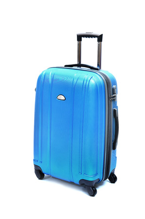 Foto de Travel luggage isolated on the white background - Imagen libre de derechos