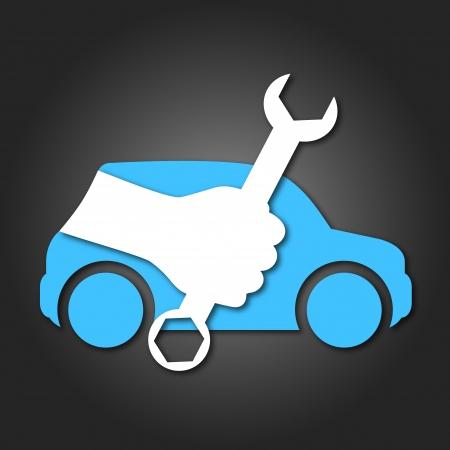 Illustration pour design for auto repair, symbol for business - image libre de droit