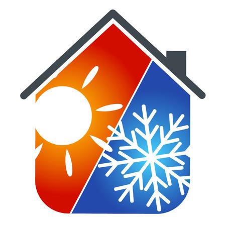 Illustration pour symbol the conditioner for business, house service - image libre de droit