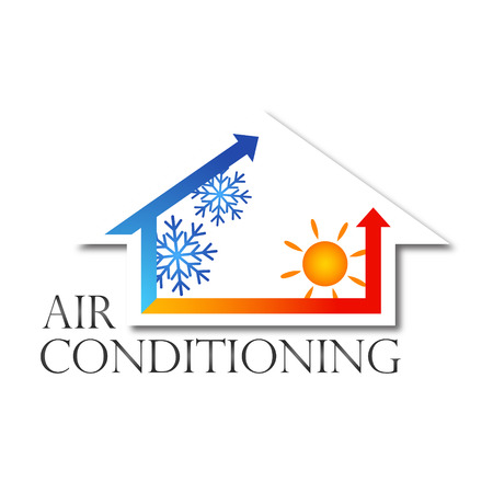 Ilustración de design for home air conditioner, vector - Imagen libre de derechos