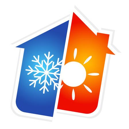 Illustration pour design for home air conditioner, vector - image libre de droit