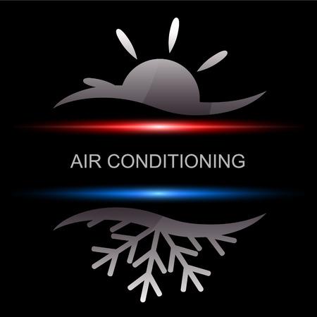 Illustration pour Air conditioning design for business, vector - image libre de droit