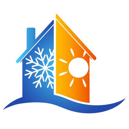 Illustration pour Air conditioning at home for a vector - image libre de droit