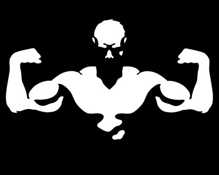 Photo for Man with muscles for gym and fitness vector - Royalty Free Image
