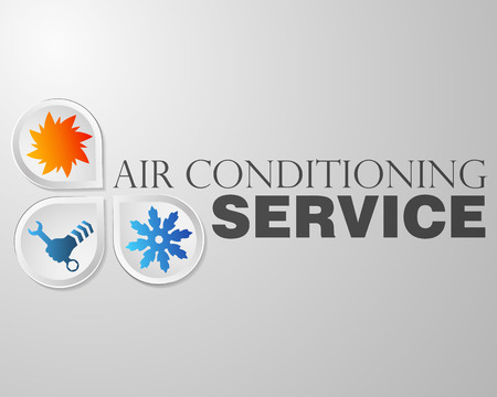 Ilustración de Symbol air conditioning repair business - Imagen libre de derechos