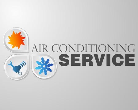 Illustration pour Symbol air conditioning repair business - image libre de droit