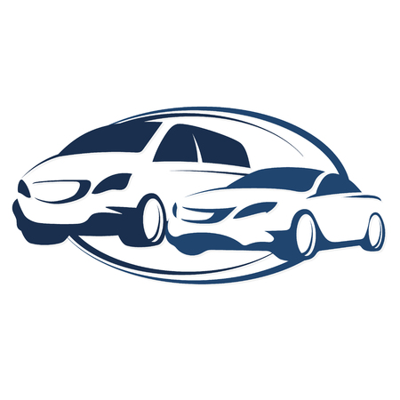 Photo for Car rental vector symbol for business - Royalty Free Image