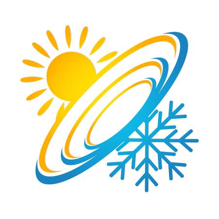 Illustration pour Ventilation and air conditioning design vector - image libre de droit