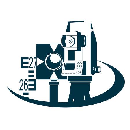 Illustration pour Geodesy and land registration symbol - image libre de droit