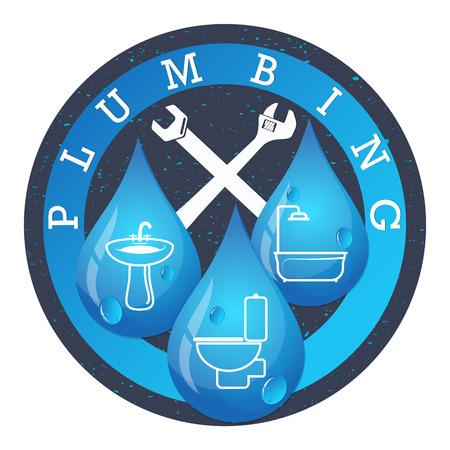 Ilustración de Plumbing and water systems for business vector - Imagen libre de derechos