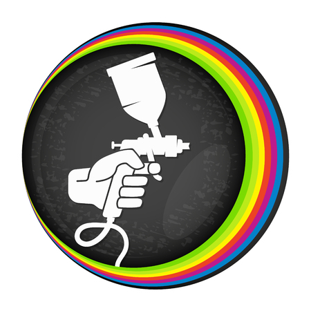 Illustration pour Spray for painting symbol for vector - image libre de droit