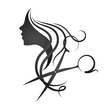Illustration pour Beauty salon and hairdresser for women symbol - image libre de droit