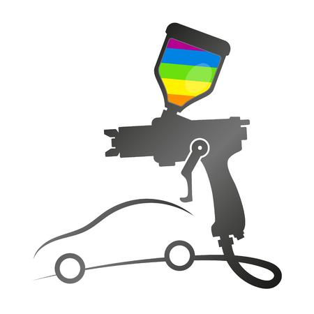 Illustration pour Painting auto with spray symbol for business - image libre de droit