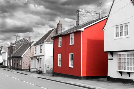 Photo pour 14 Aug - Single red painted house - image libre de droit