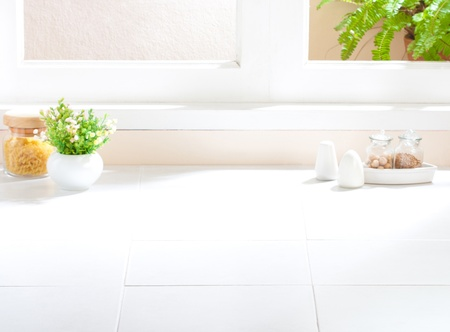Empty space of the kitchen that you could touching kitchenware's images or your ideas into it