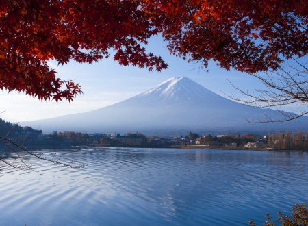 Mt Fuji or Fujiyama the landmark of Japan beautiful in autumn