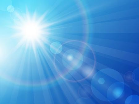 Illustration pour  illustration sun in the blue sky - image libre de droit