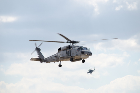 Foto de two helicopters view - Imagen libre de derechos