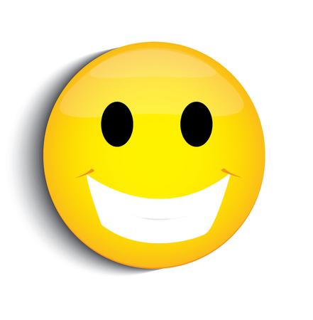 Illustrazione per Happy smiley face - Immagini Royalty Free