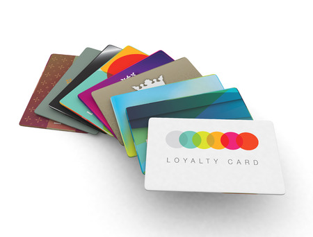 Photo for credit card loyalty scheme cards 3d render - Royalty Free Image
