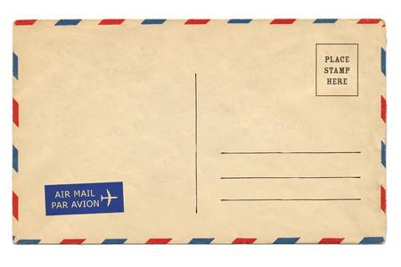 Photo pour Back of vintage blank postcard - image libre de droit