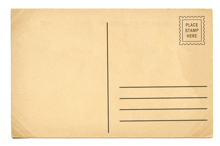 Photo pour Back of vintage blank postcard - image libre de droit