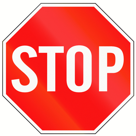 Photo pour A standard Stop sign in Indonesia. - image libre de droit