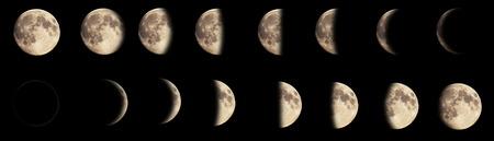 Foto de Composite image of the phases of the moon. - Imagen libre de derechos