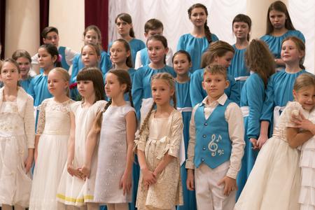 Kiev, Ukraine, November 25 2017. Childrens Choir