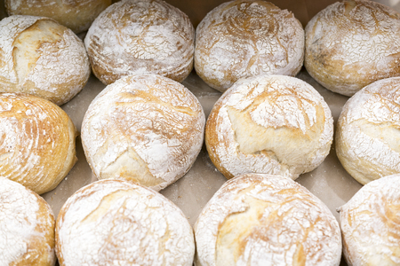 Photo for Warm air bread on the shelf in the store. - Royalty Free Image