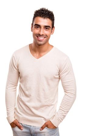Foto de Portrait of a smiling young man - Imagen libre de derechos