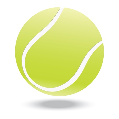 Illustration for illustration of highly rendered tennis ball, isolated in white background    - Royalty Free Image